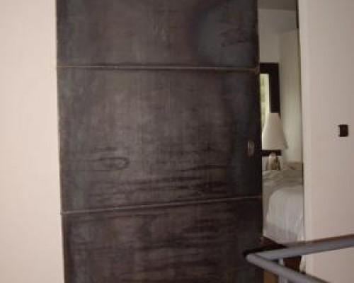 Porte et volets métalliques coulissants