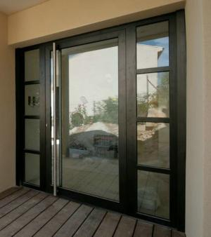 Portes d 39 entr e aluminium de la gamme sch co vente for Isolant porte d entree